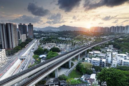 long ping hong kong urban downtown
