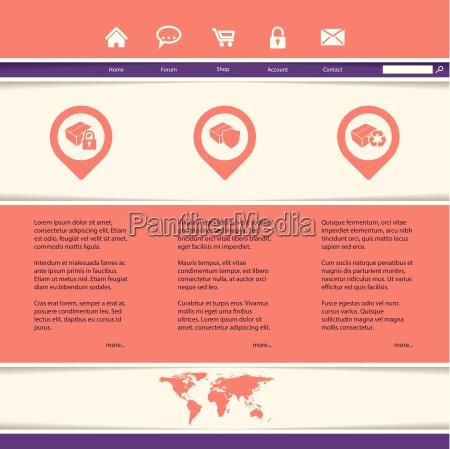 website vorlage fuer produkt oder servicepraesentation