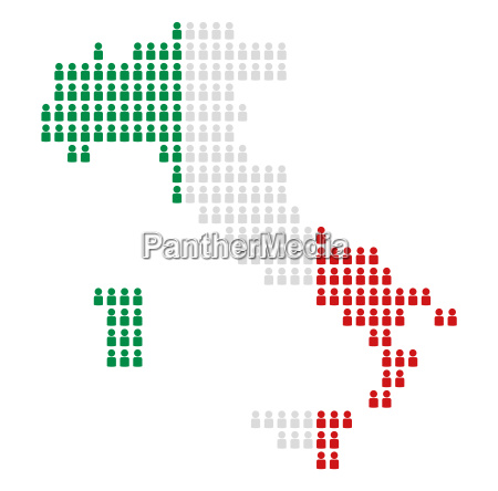 map italy from from icons in