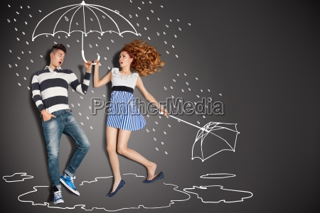im regen