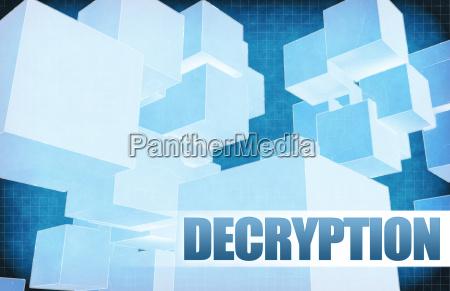 decryption on futuristic abstract