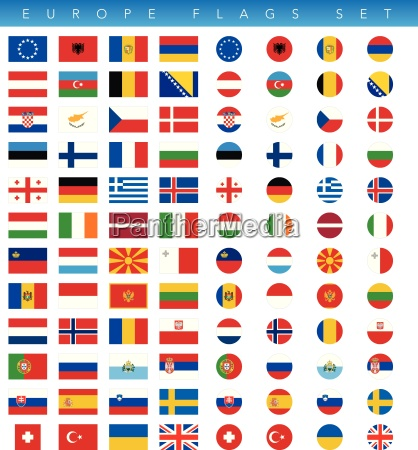 europa flags set