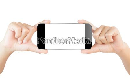mano rilasciato appartato schermo tecnologia isolato