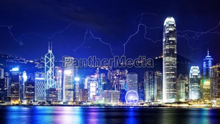 storm in the hong kong night