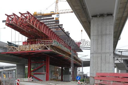 ponte calcestruzzo colonna intersezione colmare concreto