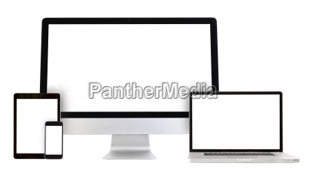 modern monitor computer laptop phone tablet