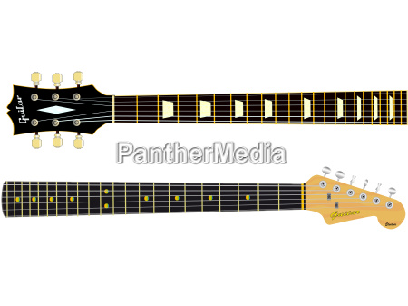 elektrisch gitarre nacken haelse ikone gitarrenspiel