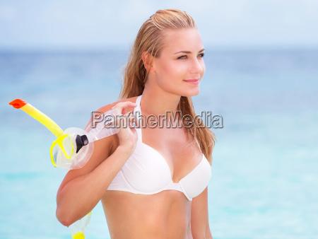 beautiful model on the beach