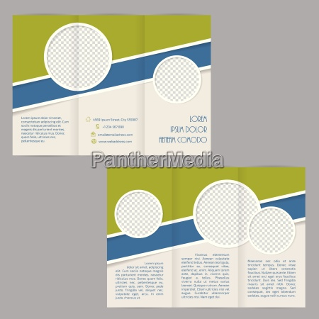 tri fold brochure template design with