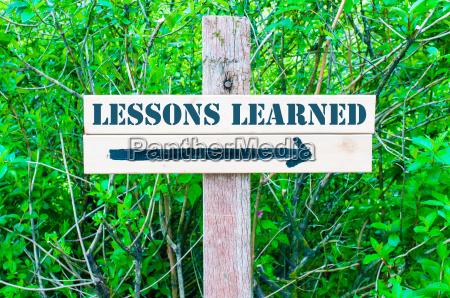 lessons learned richtzeichen