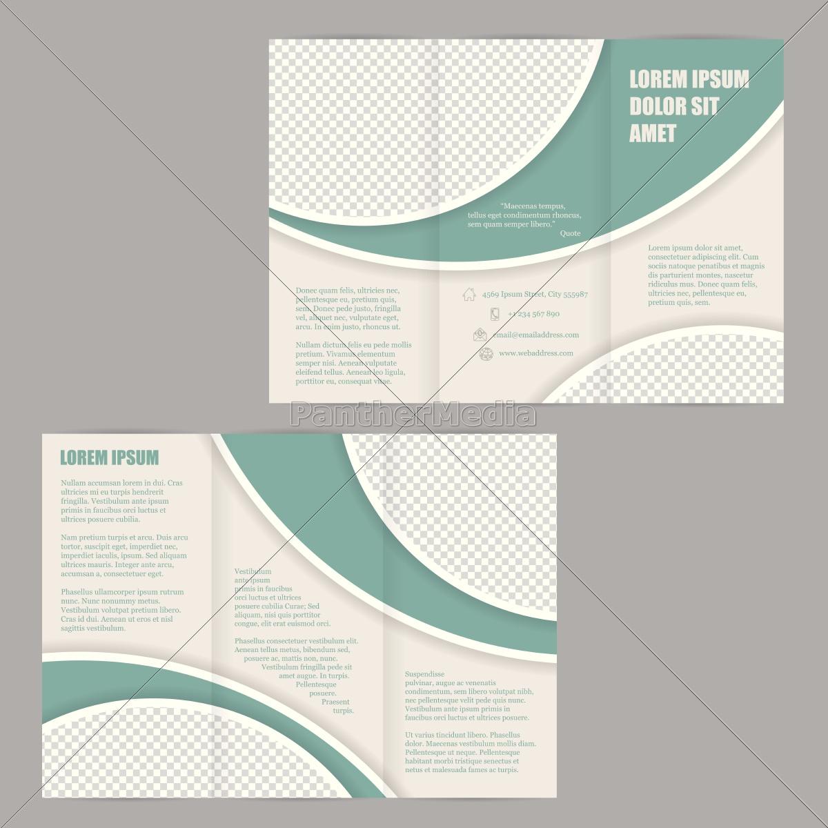 tri-fold, broschüre, flyer, design-vorlage - 14240143
