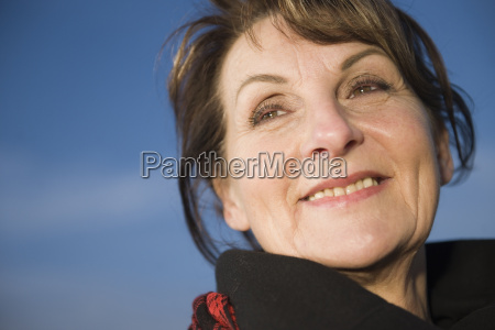 happy face of mature woman