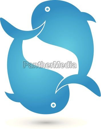 two whales logo animals