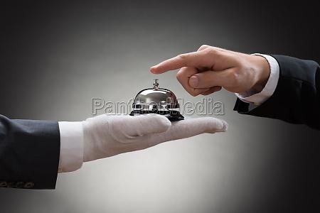 close up einer person die hand