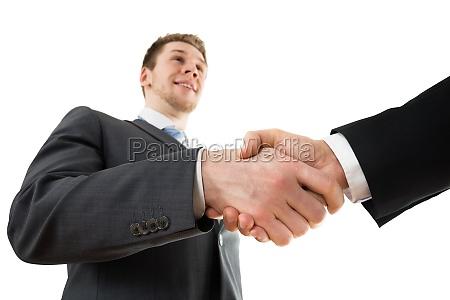 businesspeople shaking hand