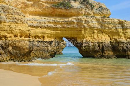 cliff in praia da rocha algarve