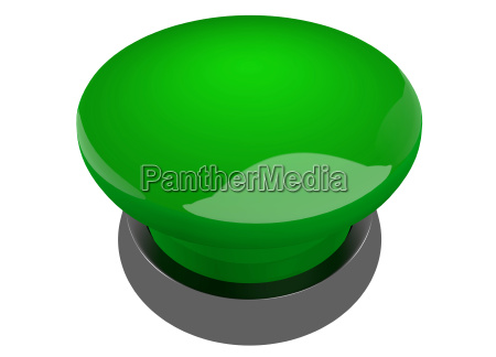gruener leuchtender buzzer button