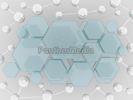 silver molecule and hexagon glass science