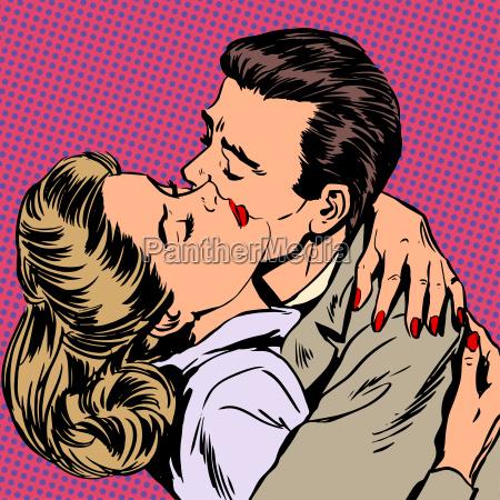 leidenschaft mann frau umarmen liebesbeziehung stil