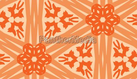 verlinkte orange linien muster