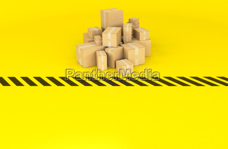 boxes on a black and yellow