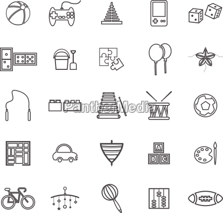 toy line icons on white background