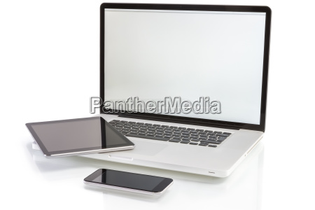 moderne computer geraete laptop tablet