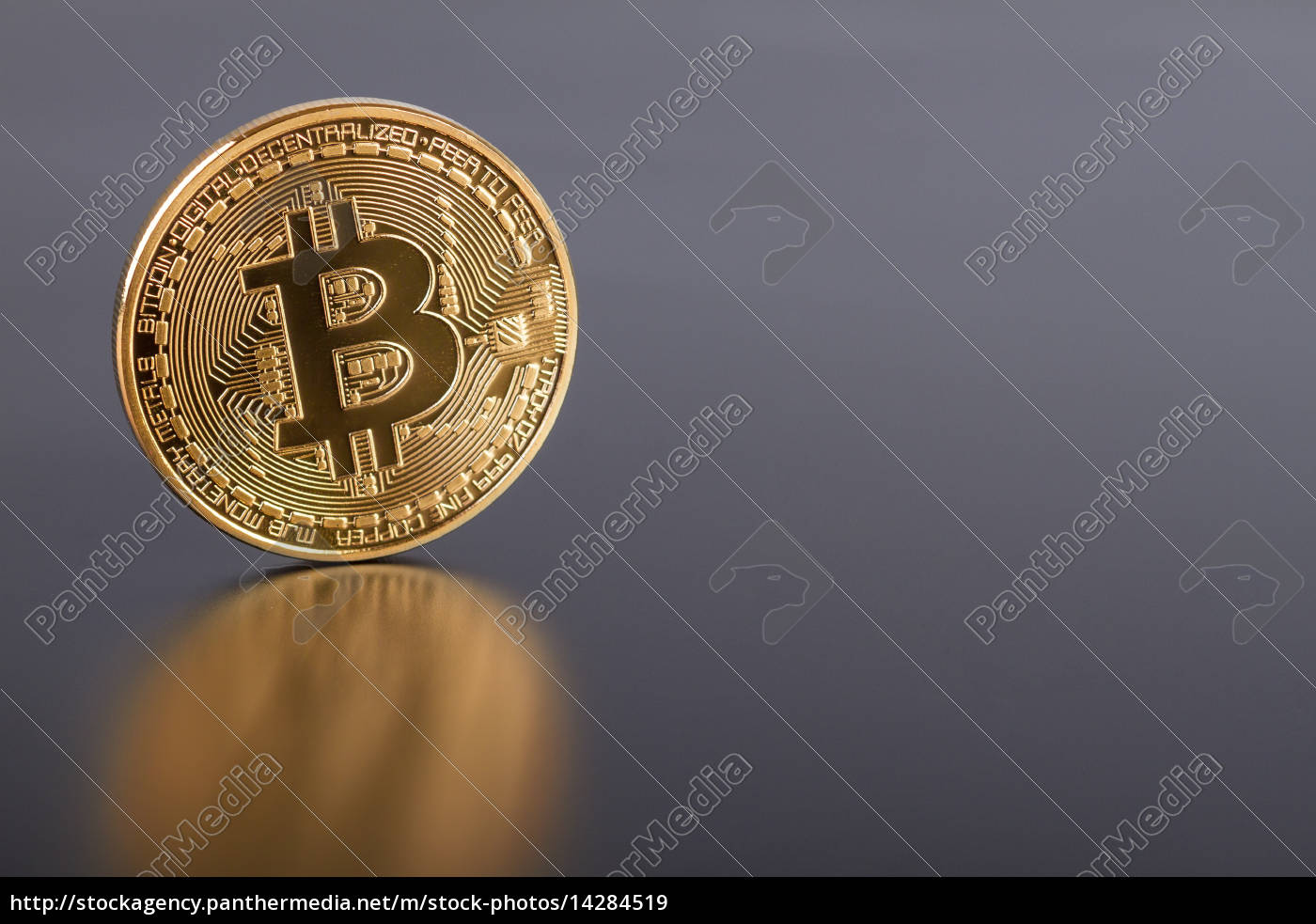 foto, golden, bitcoin, (neues, virtuelles, geld) - 14284519