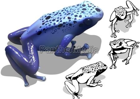 blaue gift dart frosch set