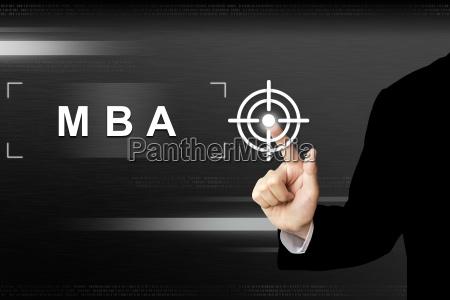 business hand druecken mba oder master