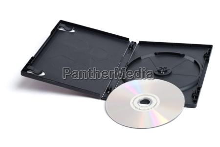 dvd und fall auf weissem