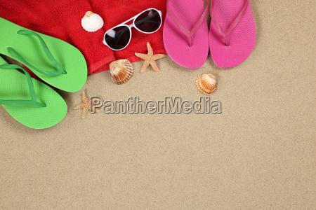 strand szene im sommer und urlaub