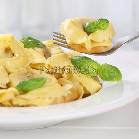 italian cuisine tortellini eating pasta with