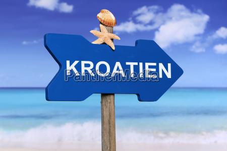 kroatien mit strand und meer in