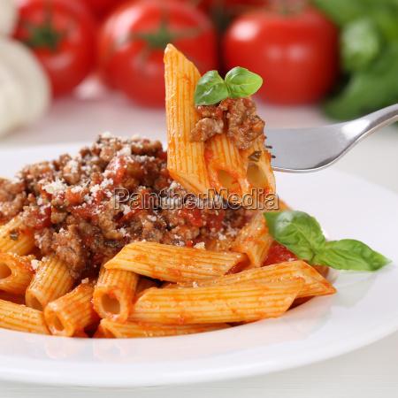 italian cuisine pasta bolognese sauce eat