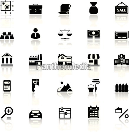 mortgage and home loan icons with