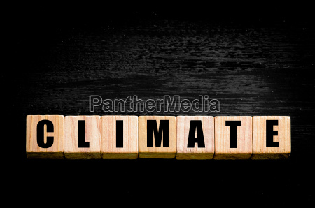word climate isolated on black background