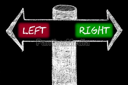 gegen pfeile mit links gegen rechts