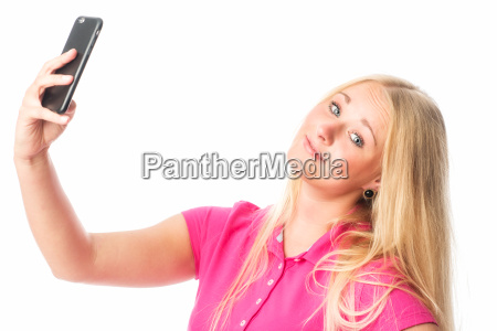 confident girl making a selfie