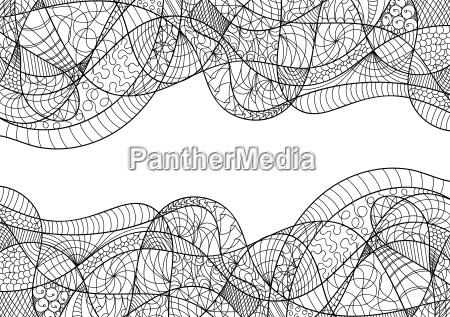 abstrakte karte zentangle