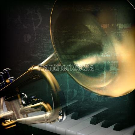 abstrakte grunge hintergrund mit trompete