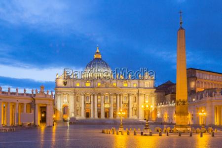 st peters basilica im vatikan bei