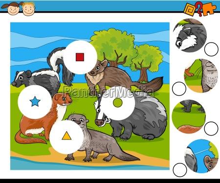 match pieces game cartoon
