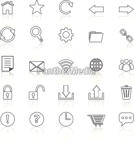 tool bar line icons with reflect