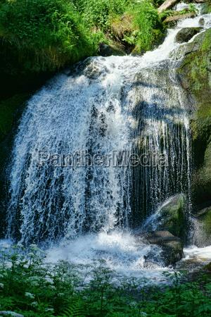 der wasserfall in triberg im schwarzwald