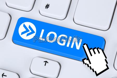 login button anmelden mit passwort online
