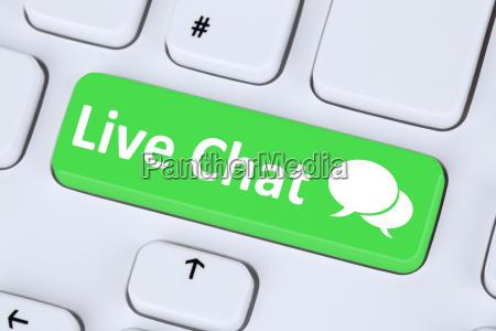live chat kontakt kommunikation service symbol