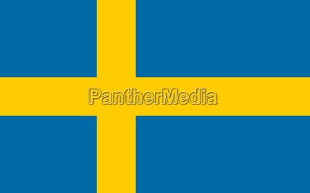 flagge von schweden horizontal