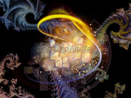 fractal mechanik hintergrund