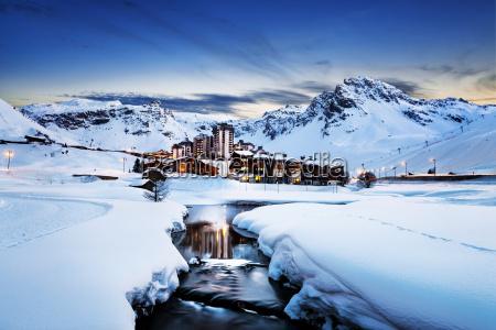 tignes alpen frankreich